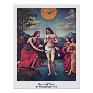 Bautismo de Cristo de Francisco Raibolini Impresiones