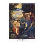 Bautismo de Cristo de Jacopo Tintoretto Tarjeta Postal
