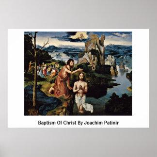Bautismo de Cristo de Joaquín Patinir Posters
