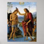 Bautismo de Cristo de Pedro Perugino Poster