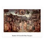 Bautismo de Cristo de Pedro Perugino Tarjeta Postal