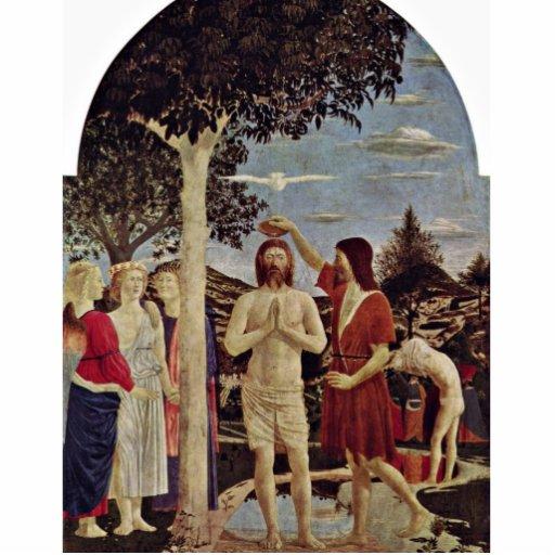 Bautismo de Cristo de Piero della Francesca Fotoescultura Vertical