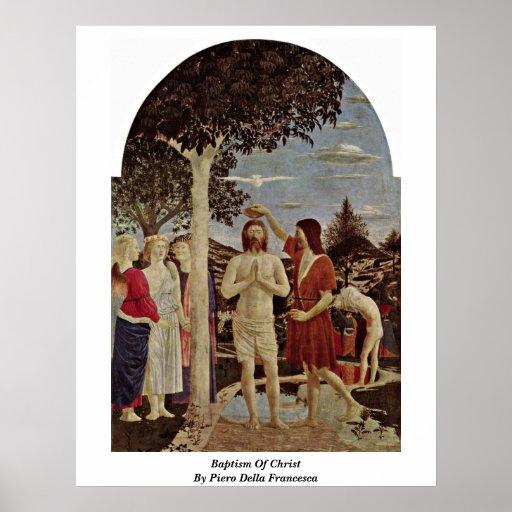 Bautismo de Cristo de Piero della Francesca Póster