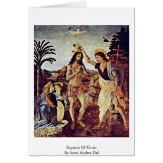 Bautismo de Cristo de Sarto Andrea Del Tarjeta De Felicitación