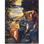 Bautismo de Cristo de Tintoretto Jacopo (el mejor  Esculturas Fotograficas