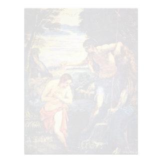 Bautismo de Cristo de Tintoretto Jacopo (el mejor  Plantilla De Membrete