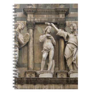 Bautismo de Cristo - estatua de Florencia Spiral Notebook