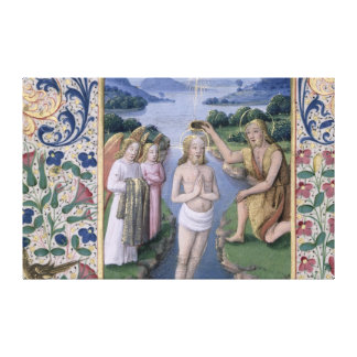 Bautismo de Cristo Lona Envuelta Para Galerías