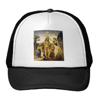 Bautismo de Cristo por da Vinci y Verrocchio Gorras