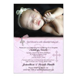 Bautismo de la niña o invitación del bautizo