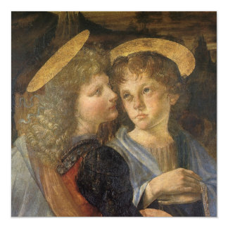"""Bautismo de los ángeles de Cristo de Leonardo da Invitación 5.25"""" X 5.25"""""""