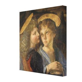 Bautismo de los ángeles de Cristo de Leonardo da Impresión En Tela