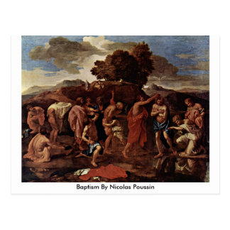 Bautismo de Nicolás Poussin Tarjetas Postales