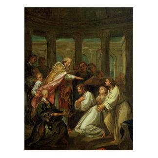 Bautismo de St Augustine Tarjeta Postal