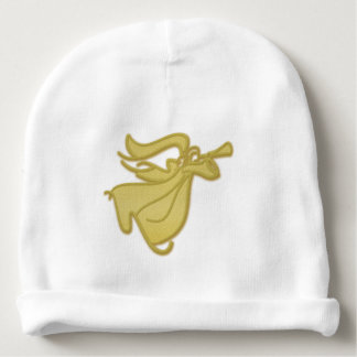 Bautismo del bautizo del oro del ángel del bebé gorrito para bebe