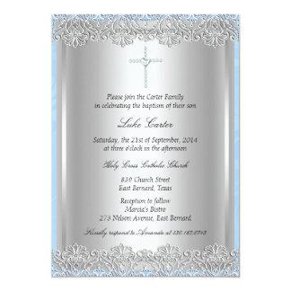 """Bautismo del cordón y de la cruz/invitación del invitación 5"""" x 7"""""""