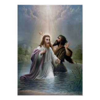 Bautismo del Jesucristo de San Juan Bautista Posters