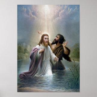 Bautismo del Jesucristo de San Juan Bautista Póster