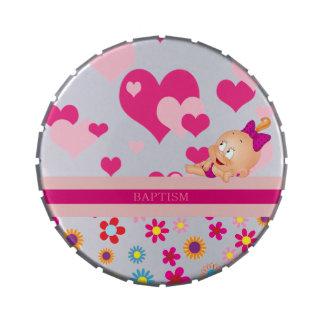 Bautismo: ¡es un chica! - latas de dulces