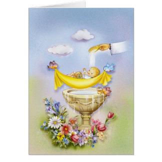 Bautismo, invitación del bautizo tarjeta de felicitación