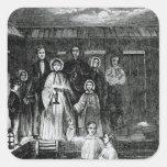 Bautismo mormón pegatina cuadrada