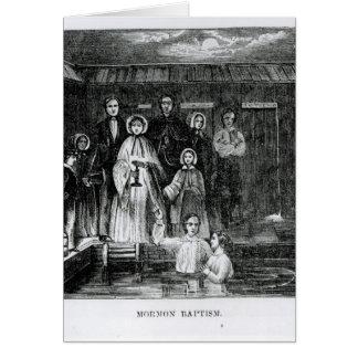 Bautismo mormón tarjeta de felicitación