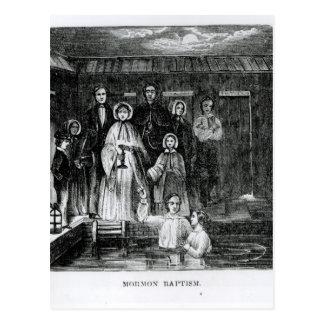 Bautismo mormón tarjeta postal