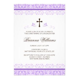 Bautismo o bautizo púrpura de los chicas del cordó