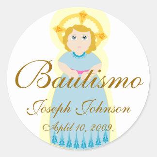 """Bautismo"" Sticker-Customize Classic Round Sticker"