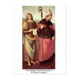 Bautista y St Augustine de Juan de Pedro Perugino Postales