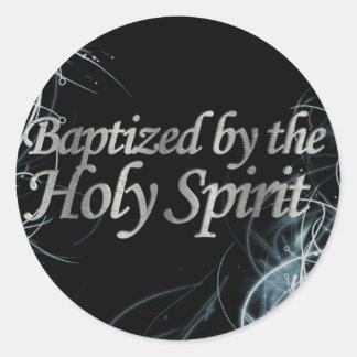 Bautizado por el Espíritu Santo 2 Pegatina Redonda
