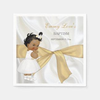 Bautizo afroamericano del bautismo de la niña servilletas desechables