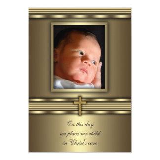Bautizo cruzado del bautismo de la foto del bebé invitacion personal