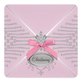Bautizo del rosa del arco del diamante comunicados personales