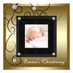 Bautizo negro de la foto del chica del bebé del or comunicado personal