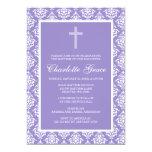 Bautizo púrpura del bautismo del chica de la cruz comunicados