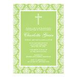 Bautizo verde del bautismo del chica de la cruz de