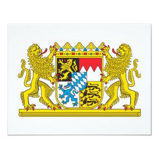 Bavaria coat of arms 4.25x5.5 paper invitation card