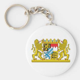 Bavaria coat of arms basic round button keychain