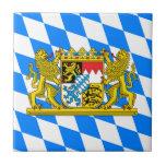 """Bavaria Coat of arms Ceramic Tile<br><div class=""""desc"""">Bavarian symbol on Bavarian flag patriotic pattern</div>"""