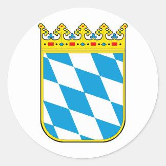 Bavaria coat of arms classic round sticker