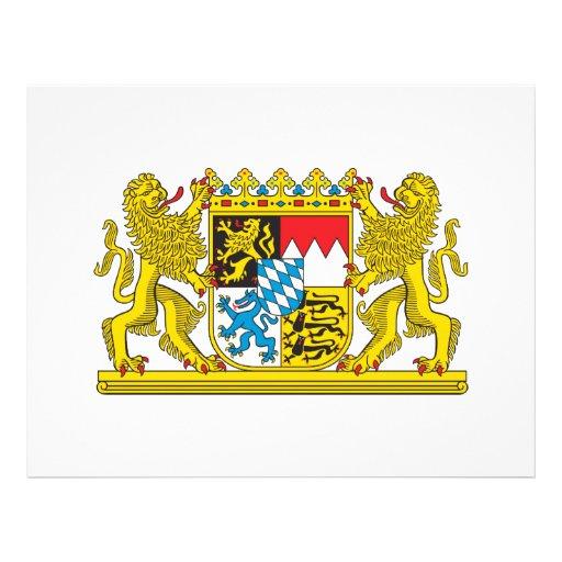 Bavaria coat of arms letterhead template