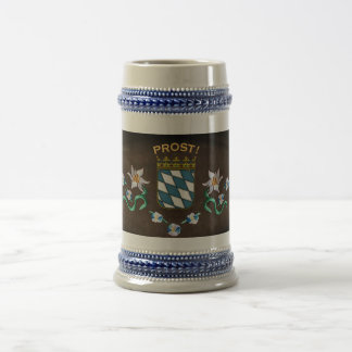 """Bavaria Coat of Arms """"Prost!"""" Beer Stein"""
