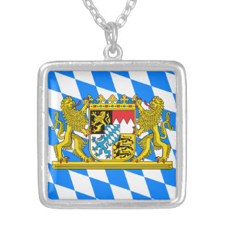 Bavaria Coat of arms Silver Plated Necklace