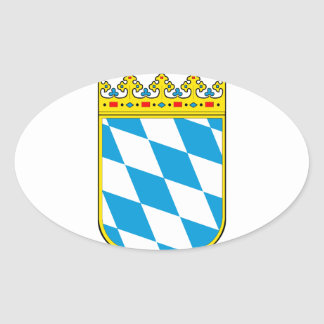 Bavaria coat of arms oval sticker