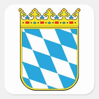 Bavaria coat of arms square sticker