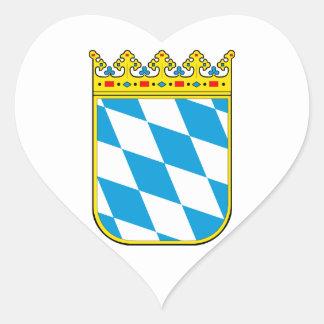 Bavaria coat of arms heart sticker