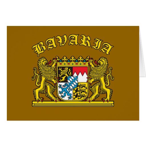 Bavaria Coat of Arms Tshirts and Products Card