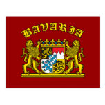 Bavaria Coat of Arms Tshirts and Products Post Cards