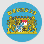 Bavaria Coat of Arms Tshirts and Products Round Stickers